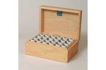 Absolute Aromas Wooden Storage Box 24 Hole to Hold 10ml Essential Oils