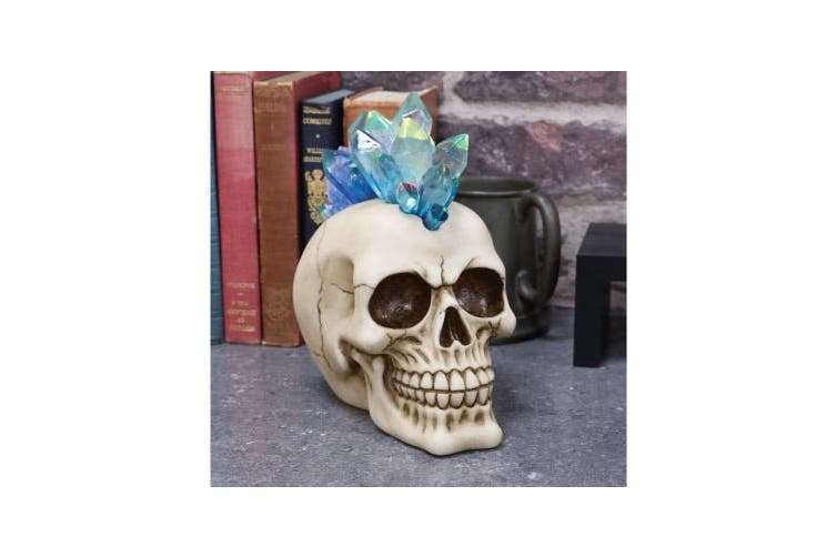 Nemesis Now - Crystal Hawk Mohawk Skull Figurine - 18cm