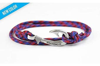 (Spiderman) - Chasing Fin Adjustable Bracelet 550 Military Paracord with Fish Hook Pendant