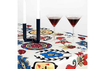 (Rectangular 150cm  x 300cm , Flowers) - Turkish Non-iron Stain Resistant Diamonds Table Cloth – Fashionable Flowers Table Cover Home Dining room Geometric Pattern Table Protection - Stylish Indoor Outdoor (Flowers, Rectangular 150cm x 300cm )