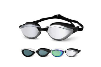 (3910-Silver Mirror Lens) - COPOZZ Swimming Goggles, No Leaking Swim Goggles for Adult Men Women Youth, Anti Fog UV Protection Lenses, Soft Silicone Frame and Strap, Interchangeable Nose Bridges