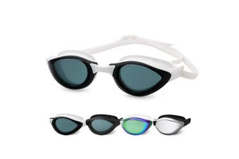 (3910-White Frame Clear Lens) - COPOZZ Swimming Goggles, No Leaking Swim Goggles for Adult Men Women Youth, Anti Fog UV Protection Lenses, Soft Silicone Frame and Strap, Interchangeable Nose Bridges