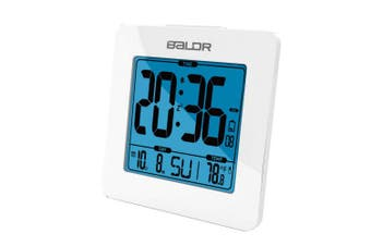 (White) - BALDR Digital Alarm Clock - Easy to Read, Simple to Set Up - Battery Operated and Cordless - Not Just for Bedrooms - These Digital Clocks are Ideal for The Bathroom, Kitchen, Office and Travel -White