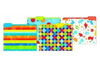 Eureka Multicoloured Dr. Seuss Back to School File Folders for Students and Teachers, 23cm x 29cm , 4 pc
