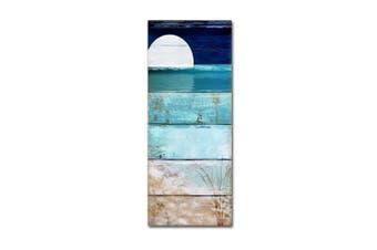 (14x32) - Beach Moonrise I by Colour Bakery, 36cm x 80cm Canvas Wall Art