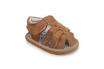 (0-6 Months, Brown) - Sabe Infant Baby Boys T-Tied Casual Sandals Soft Sole Anti-Slip Dress Pram Shoes