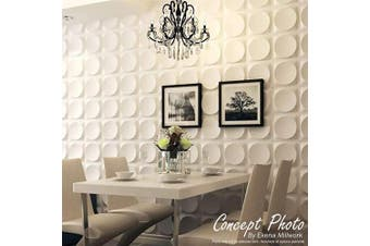 (Single) - Ekena Millwork WP20X20DAWH Damon Design Decorative 3D Wall Panel White