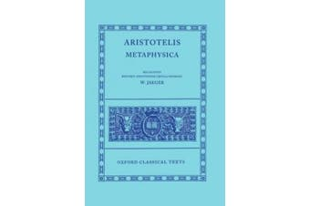 Aristotle Metaphysica (Oxford Classical Texts)