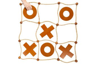 Giant Tic Tac Toss Yard Game | Premium Wooden Tic Tac Toe Game, Large Indoor Outdoor Activity | Backyard Games, Family Games, & Tailgating Parties | Wooden Board Game/Lawn Games for Adults & Kids