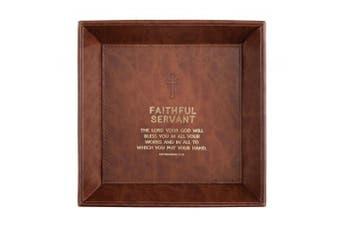 (Faithful Servant -Deuteronomy 15:10) - CB Gift Just for Him Tray Tabletop Faithful Servant -Deuteronomy 15:10