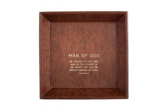 (Man of God -Ephesians 6:10) - CB Gift Just for Him Tray Tabletop Man of God -Ephesians 6:10