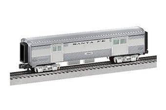 Lionel 684724 Santa Fe Add-On Baggage Car, O Gauge, Silver, Grey, Black