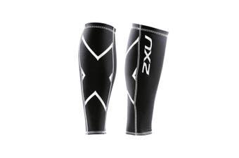 (X-Large, Black/Black) - 2XU Compression Calf Guards