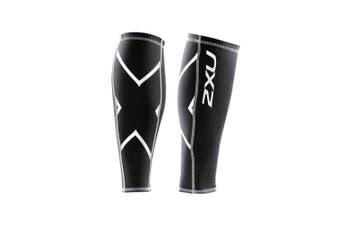 (Small, Black/Black) - 2XU Compression Calf Guards