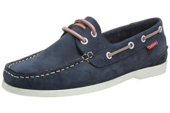 (7  (40 EU), Blue (Navy/Pink 001)) - Chatham Women's Willow Boat Shoes