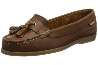 (4  (37 EU), Brown (Brown 001)) - Chatham Women's's Arora Boat Shoes