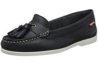 (5  (38 EU), Blue (Navy 001)) - Chatham Women's's Arora Boat Shoes
