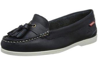 (4  (37 EU), Blue (Navy 001)) - Chatham Women's's Arora Boat Shoes