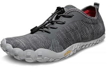 (8 M US, D-tf-bk40-gry) - TSLA Men's Trail Running Minimalist Barefoot Shoe