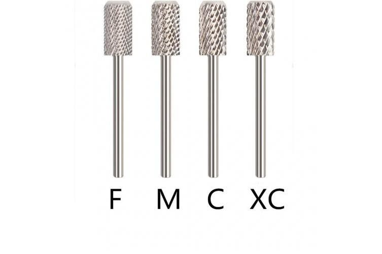 StyleZ 4X Carbide Rotary Nail Drill Bit w/Smooth Round Top For Nail Art Salon Manicure Silver