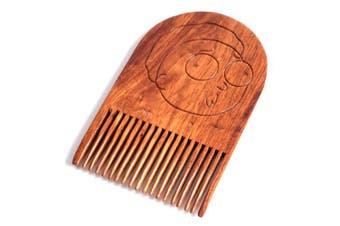 (Morty) - Morty Smith Beard Comb, Mens Wooden Facial Hair Brush - Beard Gains