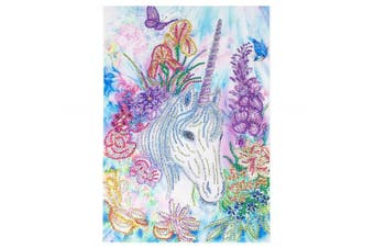 (Special Shaped) - 5D Diamond Painting, Full Drill Unicorn Special-Shaped Crystals Embroidery DIY Resin Cross Stitch Kit Home Decor Craft