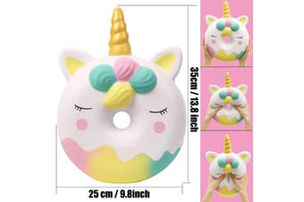 (Unicorn Donut) - Anboor Squishies Jumbo Kawaii Scented Soft Slow Rising Giant Squishies Stress Relief Kids Toy Gift Collection Decorative Props