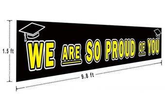 (So Proud of You) - Large Congrats Grad Banner, Class of 2019 Graduation Banner, Graduation Party Supplies Decorations, Commencement (3m x 0.5m)