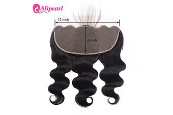 (13x 6frontal 46cm ) - 13x 6 Lace Frontal Ali Pearl Ear to Ear Lace Frontal 8A Unprocessed Virgin Human Hair Extentions (13x 6frontal 46cm )