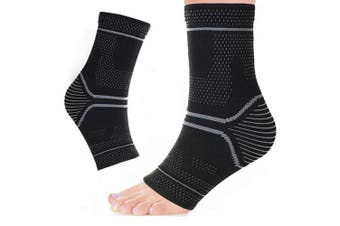(Medium) - Ankle Support - Ankle Brace Compression Support Sleeve for Arthritis, Joint Pain, Sprains, Strains, Ankle Injury, Recovery, Sports, Basketball - Pair Socks for Men & Women by Cotill (Medium)