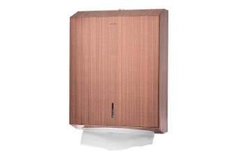 (Antique Rose Gold) - Alpine Industries C-Fold/Multifold Paper Towel Dispenser - Stainless Wall Mount Tissue Holder For Home & Office Countertop & Restroom (Antique Rose Gold)
