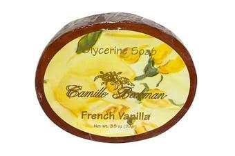 (French Vanilla, 3 Bars) - Camille Beckman Glycerine Bar Soap, French Vanilla, 100ml (3 Bars)