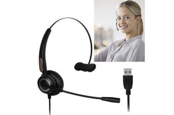 (510) - USB Headset with Microphone Noise Cancelling, Lightweight PC Headset Wired Headphones-Business Headset for Call Centre, Skype