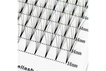(5D-C Curl, 11mm) - Russian Lashes Volume Premade Fans 5D 0.07 C Curl 11mm Short Stem Russian Volume Eyelash Extension