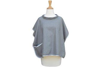 Babymoon Burpette Premium Nursing Cover & Burp Cloth Combination for Breastfeeding Privacy – Grey Dot