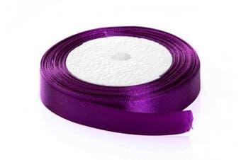 (1cm  x 25 yards, purple) - Solid Colour Satin Fabric Ribbon (Purple, 1cm x 25 Yards)