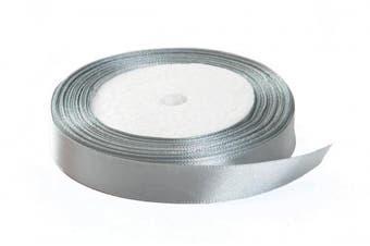 (1cm  x 25 yards, light gray) - Solid Colour Satin Fabric Ribbon (Light Grey, 1cm x 25 Yards)