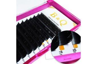 (C-0.05, 8-15 mm) - Easy Fan Volume Lash Extensions C curl D curl Premade Fans 2D 3D 4D 5D 6D 10D 20D Automatic Blooming Flower 8-15 Mix Length (C-0.05 mm, 8-15 Mix)