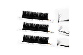 (D-0.05, 12 mm) - Easy Fan Volume Lash Extensions 0.05/0.07 Lashes C/D Curl/ 3D 4D 5D 6D 10D 20D Auto-Fan Blooming Eyelashes9-16mm Length(D-0.05-12mm)