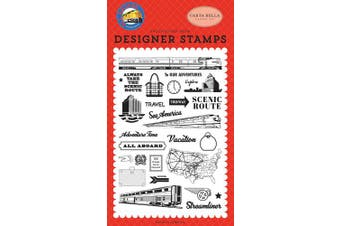 Carta Bella Paper Company CBAA101040 to Our Adventures Set Stamp red, Blue, Black, Yellow
