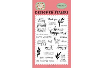 Carta Bella Paper Company CBBO98040 Stand Tall Stamp Pink, Green, Black, red, Cream