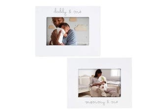 "C.R. Gibson ""Mommy and Me"" and ""Daddy and Me"" Baby Photo Frame Set 2 Piece, 23cm x 18cm"