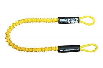 (90cm , Yellow) - Boat Lines & Dock Ties Specialty Personal Watercraft Docking Bungee Line