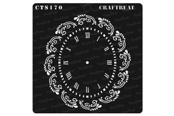 """(Oval Doily 6""""X6"""") - CrafTreat Doily Stencils for painting on Wood, Canvas, Paper, Fabric, Floor, Wall and Tile - Oval Doily - 15cm x 15cm - Reusable DIY Art and Craft Stencils - Clock Face Stencil"""