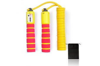 (Yellow and Red) - Balala Jump Rope for Kids with Counter - Children Adults 3m Adjustable Digital Skipping Speed Ropes For Fitness & Exercise
