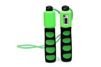 (Green) - Anser Rope skipping 390 Adjustable Jump Rope with Counter and Comfortable Handles