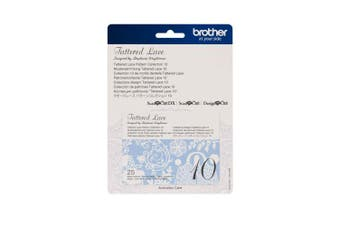Brother CATTLP10 ScanNCut Series Tattered Lace 10 Pattern Collection White
