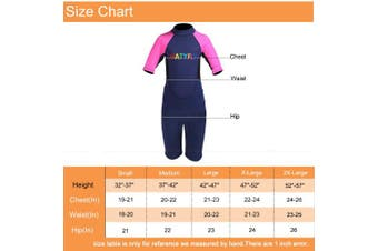 (Small, Pink) - NATYFLY Kids Wetsuit Premium 2mm Neoprene Short Sleeve Youth Shorty Wetsuit for Girls Boys Child
