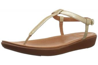 (4 UK, Gold (Pale Gold 308)) - Fitflop Women's Tia Thong Open Toe Sandals