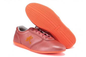 (US7.5//EUR40//Foot Length25CM, Rose Gold) - BJSFXDKJYXGS Leather Tai Chi Shoes Martial Arts Kung fu Shoes Chi Kung Shoes Martial Arts Boxing Shoes